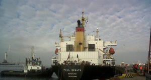 Full Wealth berthing. Image courtesy of Hudson