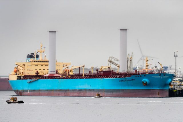 The Maersk Pelican. Image courtesy of Maersk Tankers