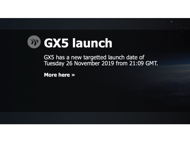 Inmarsat GX5 – Delayed 24-hours due to weather conditions