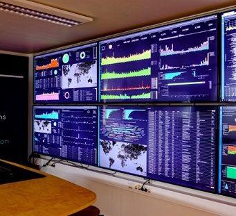 Monitoring room at Dualog