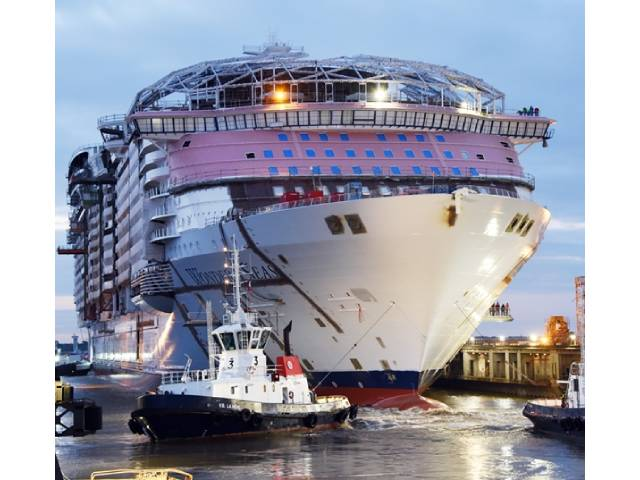 Construction On Wonder Of The Seas Continues As The Ship Transferred To Its Outfitting Dock At Chantiers De L Atlantique Shipyard Cyprus Shipping News